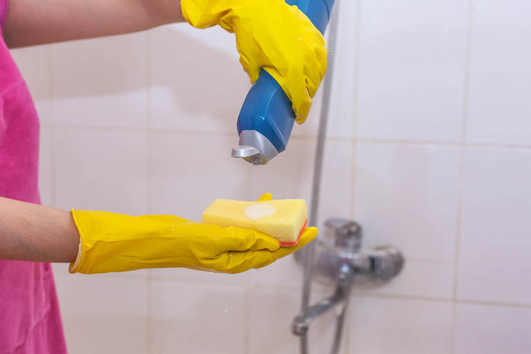 deep cleaning the shower
